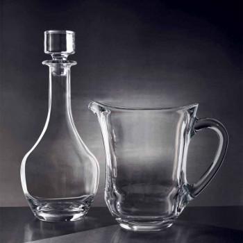 2 flasker til vin i økologisk krystal italiensk minimalt design - glat