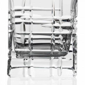 2 whiskyflasker med krystaldekoreret firkantet designhætte - arytmi