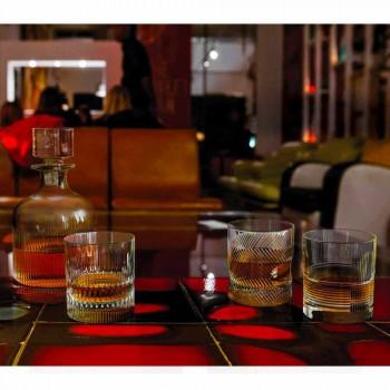 2 whiskyflasker med miljøvenlig krystalhætte Vintage Design - taktil