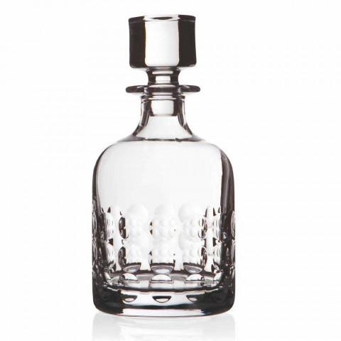 2 flasker til whisky i økologisk krystal dekoreret med hætte - titanioball