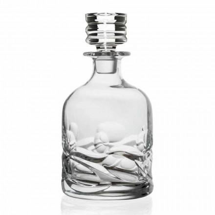 2 Eco-krystaldekorerede whiskyflasker med luksusdesignhætte - Titanium