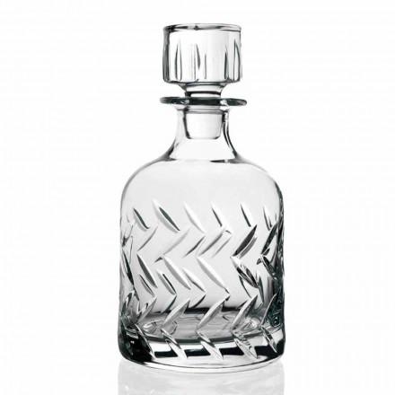 2 økologiske flasker med krystalwhisky med låg, vintage dekorationer - arytmi
