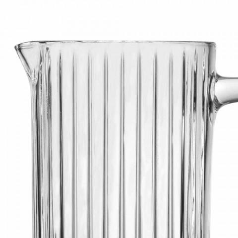 2 kander med vand og drikkevarer i miljøvenligt krystaldekoreret design - Senzatempo
