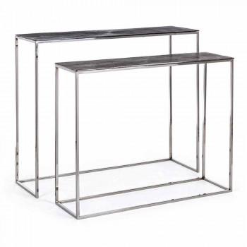 2 Konsol i stål og belagt aluminium Modern Design Homemotion - Narnia