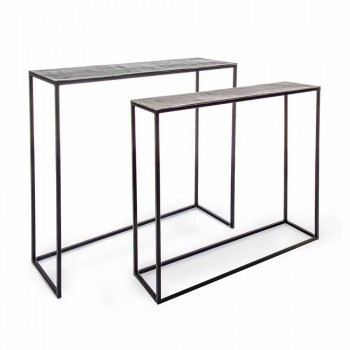 2 Konsol i stål Industriel stil Moderne design Homemotion - Sesam