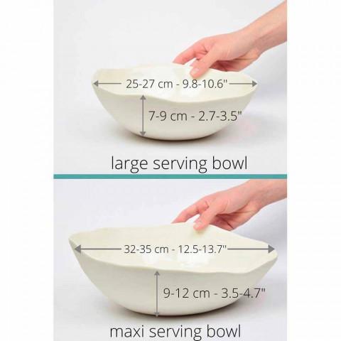 2 salatskåle i hvidt porcelæn Unikke stykker af italiensk design - Arciconcreto