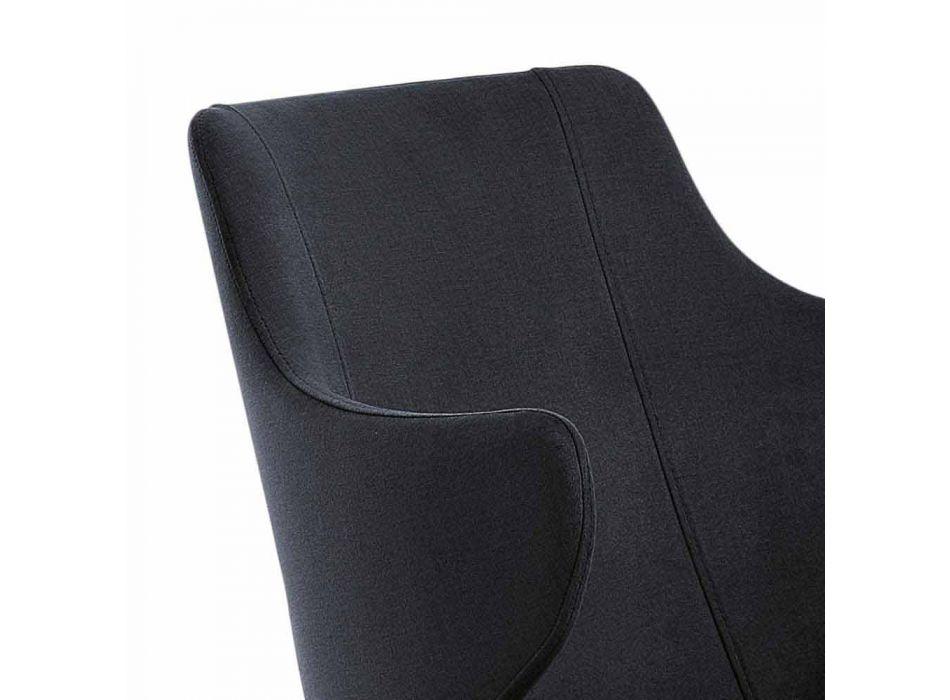 2 spisestue lænestole i farvet stof og designaske - Duchessa