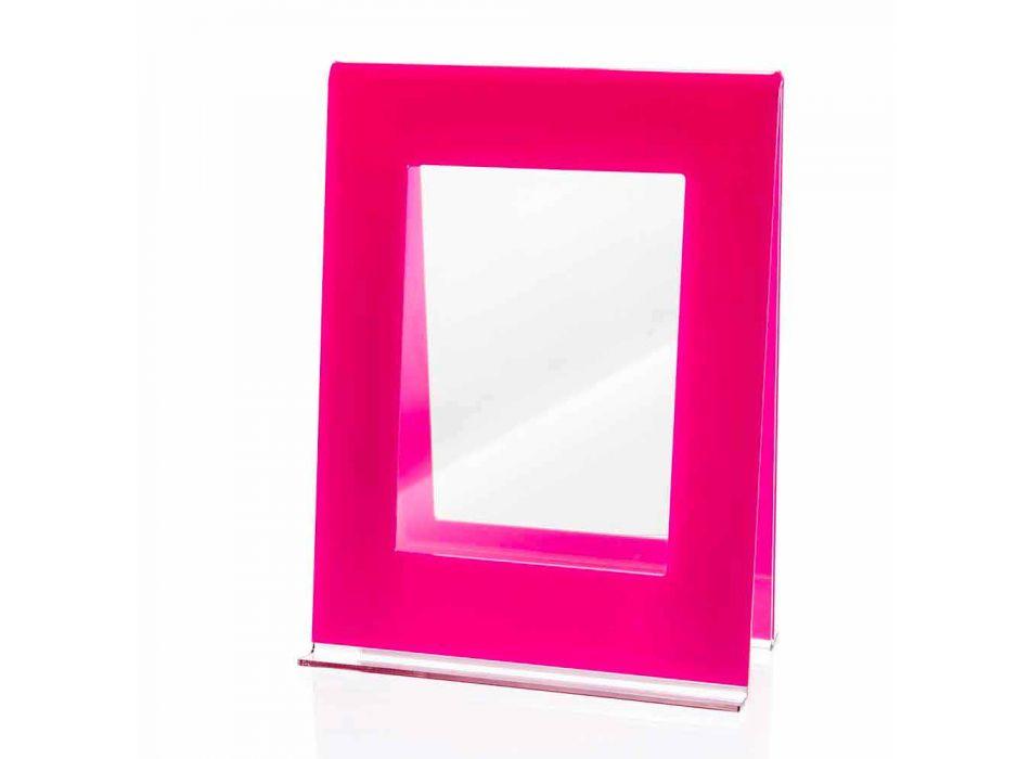 2 fotoramme med flere borde i farvet plexiglas italiensk design - Tarino