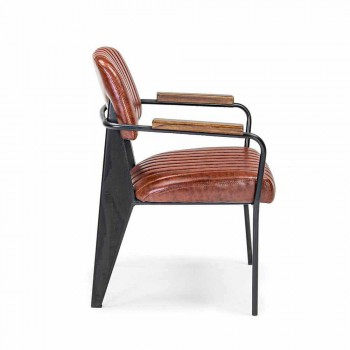 2 stole med armlæn i kunstlæder Vintage Effect Homemotion - Clare