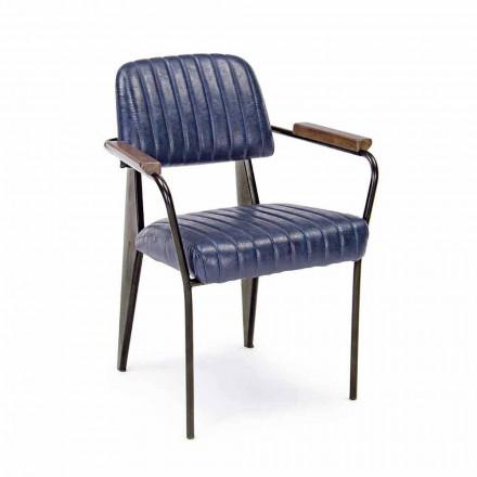 2 Vintage Effect kunstlæder Homemotion stole med armlæn - Clare