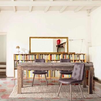 2 moderne stole i industriel stil dækket af kunstlæder Homemotion - Riella