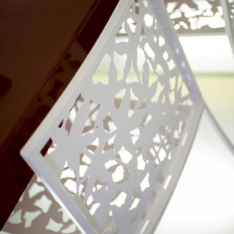 2 afføring i hvidt metal Laserskåret lavt eller højt design - Patatix