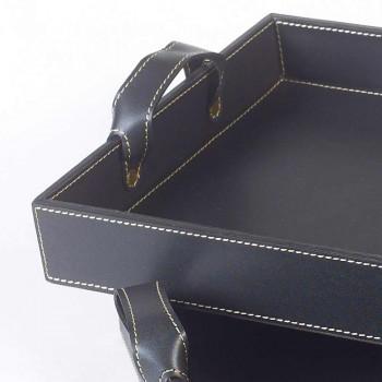 2 sort læder designs Bakke 41x28x5cm og 45x32x6cm Anastasia