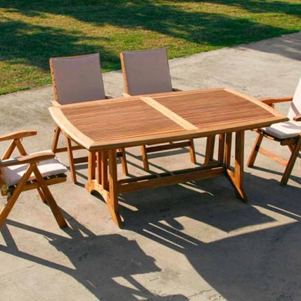Udvidelse bord teak udendørs Amalfi