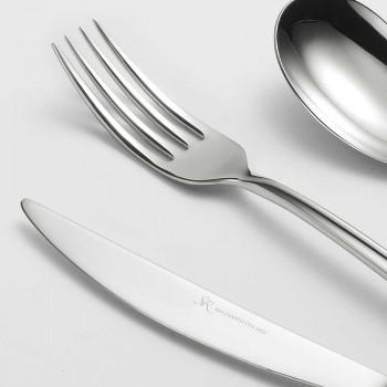 24 Bestik af poleret stål Triangulært design Elegant moderne design - Caplin