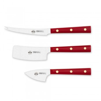 3 Osteknive i rustfrit stål eksklusive til Viadurini - Asiago