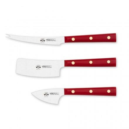 3 Ostknive i rustfrit stål, Berti eksklusiv til Viadurini - Asiago