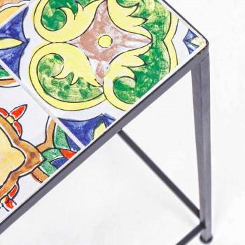 3 firkantede haveborde i stål med dekorer - fortryllende