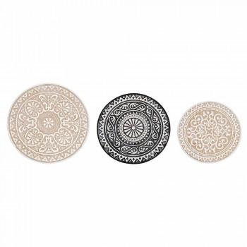 3 kaffeborde i Mdf med Homemotion indlagt dekorationer - Mariam