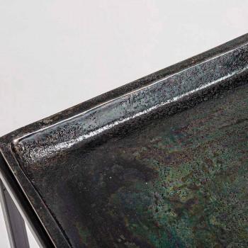3 firkantede kaffeborde i Homemotion i aluminium og stål - Quinzio