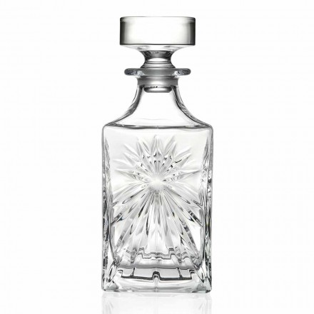 4 Whiskyflasker med Eco Crystal Cap Square Design - Daniele