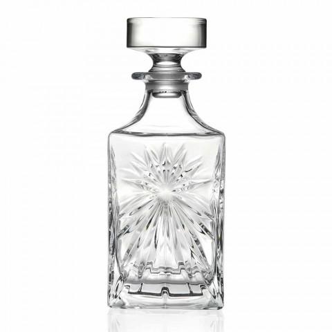 4 Whiskyflasker med Eco Crystal Cap Square Design - Daniele