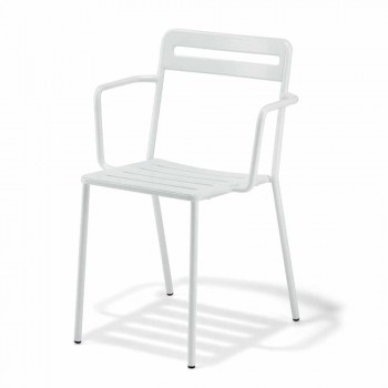 4 udendørs stabelbare metalstole fremstillet i Italien - Yolonda