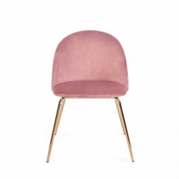 4 designstole betrukket med fløjl med stålkonstruktion Homemotion - Dania
