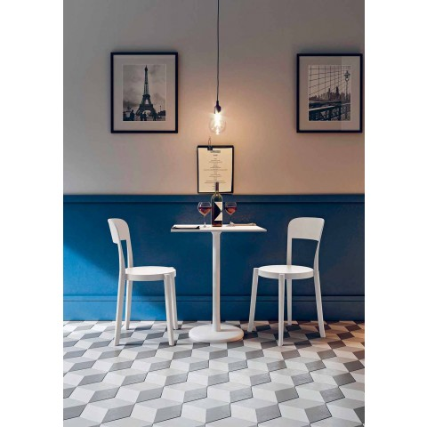 4 udendørs stabelbare polypropylenstole lavet i Italien-design - Alexus