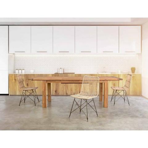 4 spisestuestole i stål og væv af Kubu Homemotion - Kendall