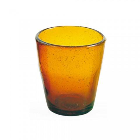 6 briller Water Craft Service af farvet blæst glas - Yucatan