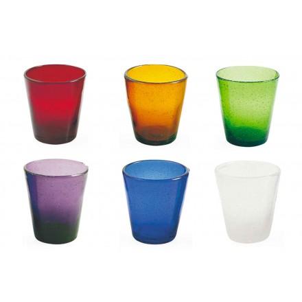 12 briller Water Craft Service af farvet blæst glas - Yucatan