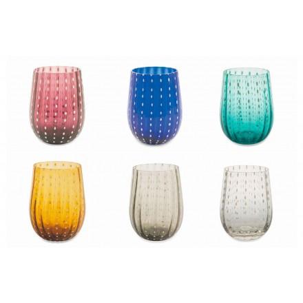 12 farvede og moderne glasbriller til elegant vandforsyning - Persien