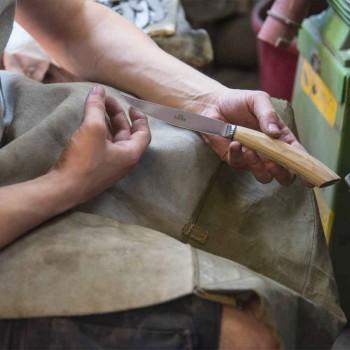 6 håndlavede bøfknive i horn eller træ fremstillet i Italien - Zuzana