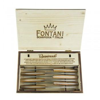 6 Ergonomiske bøfknive med stålblad fremstillet i Italien - haj