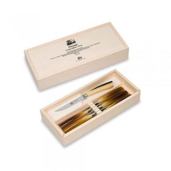 6 Berti Plenum glatte knivknive eksklusiv til Viadurini - Andalo