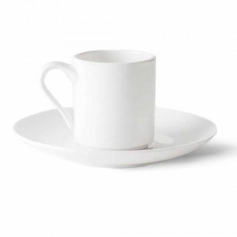 6 porcelænskaffe kopper med kaffekande og sukker skål - Romilda