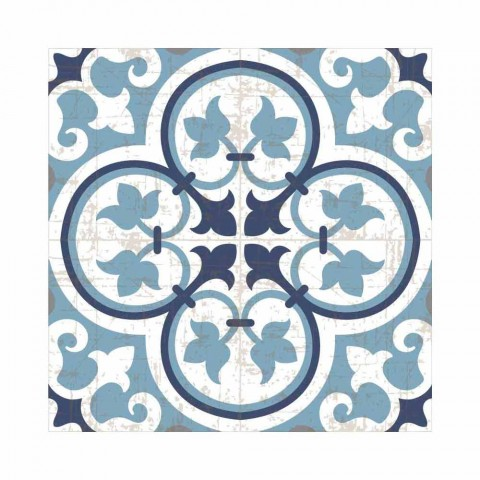 6 amerikansk mønstrede plaketter i PVC og vaskbar polyester - Lindia