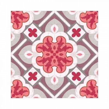 6 elegante amerikanske placemats i vaskbar PVC og polyester - Petunia