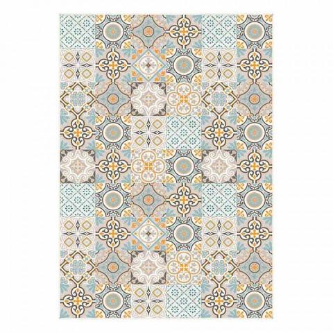 6 Elegante rektangulære mønstre amerikanske placemats - Frisca