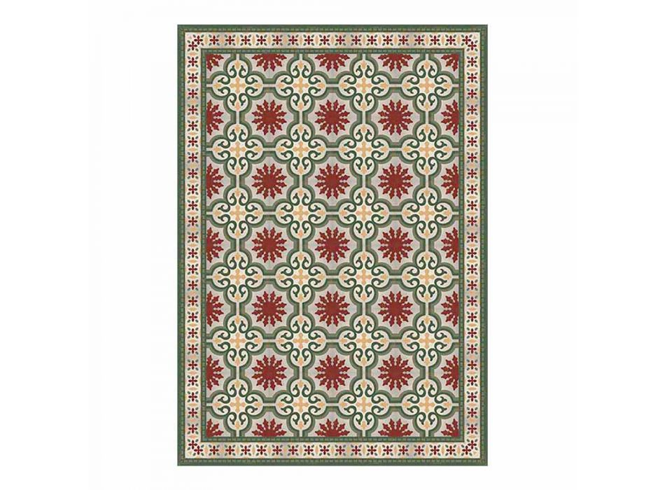 6 mønstrede vaskbare amerikanske placemats i PVC og polyester - Coria