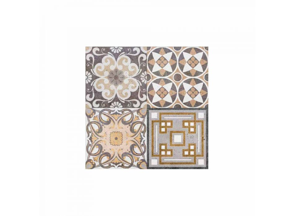 6 rektangulære amerikanske designplacemats i PVC og polyester - Dimetra