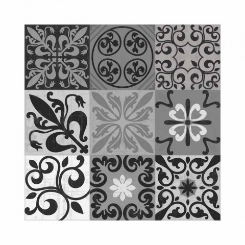 6 elegante placemats i Pvc og polyester med sort eller gråt mønster - Pita