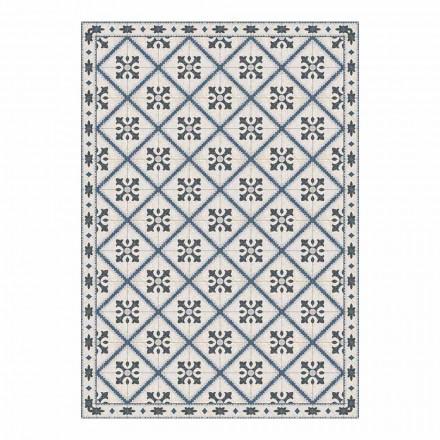 6 rektangulære plaketter i pvc og polyester med mønster - Berimo