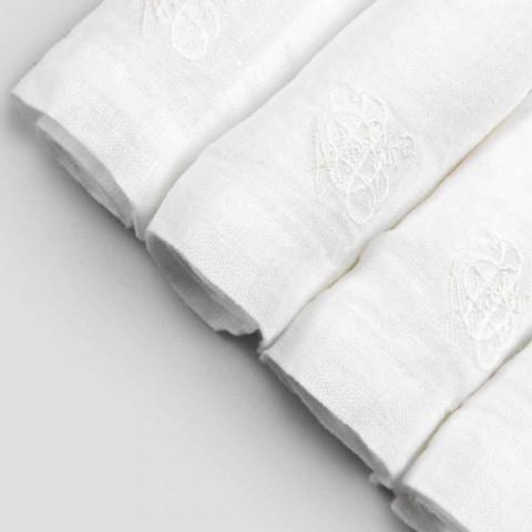 6 lette linnedervietter med italiensk luksusboksindretning - Virtu