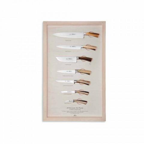 7 Berti vægknive i rustfrit stål eksklusivt til Viadurini - Modigliani