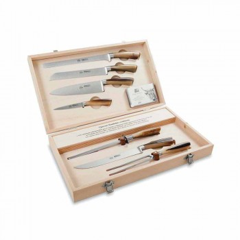 7 Berti bordknive i rustfrit stål eksklusivt til Viadurini - Sanzio