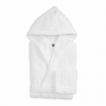 Luksusfarvet badekåbe med hætte i Terry bomuld - Vuitton