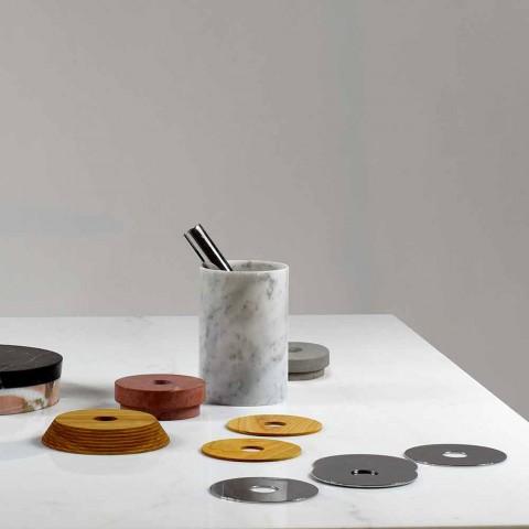 Aperitif tilbehør Cocktailinstrumenter i marmor, træ og stål - Norman