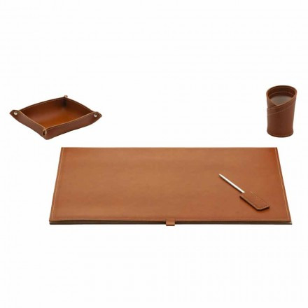 Tilbehør til Designer Desk i limet læder, 4 stykker - Aristoteles